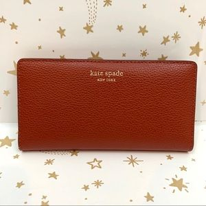 Kate Spade | Burnt Orange Large Slim Bifold Wallet